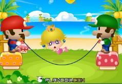 марио играет с веревкой
