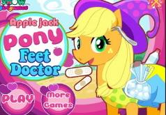 Игра Мой маленький пони Эпплджек у доктора