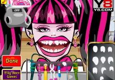 игры для девочек монстр хай лечить зубы дракулауре