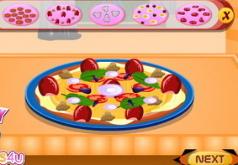 игры для девочек готовим пиццу кухня сары