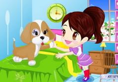 игры цветная девушка и симпатичный питомец