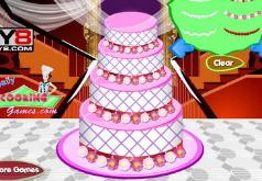 игры украшение большого свадебного торта