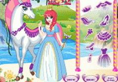 Игры принцесса и белая лошадь
