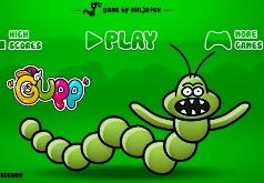 игры гусеница и яблоки