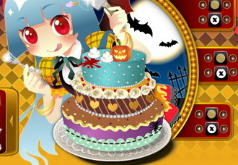 игры украшения торта к хэллоуину