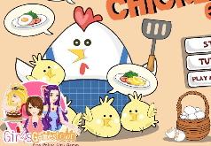 Игры мама готовит курицу