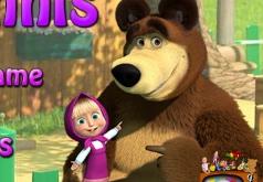 игры с мячом с машей и медведем