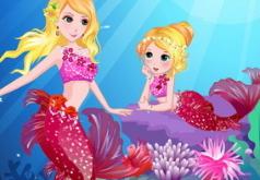 Игры Мерамида и её мама онлайн