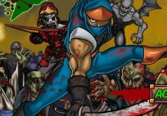 Игры с оружием ниндзя против зомби