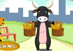 игры корова бросает батоны