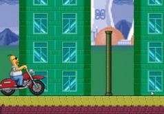 Игры Гомер Симпсон на байке