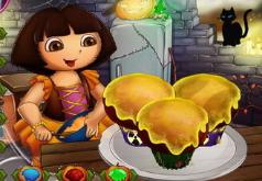 Игра Дора готовит капкейки на Хеллоуин