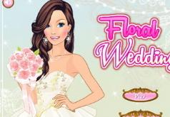 игры цветочное свадебное платье
