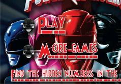 Игра Могучие рейнджеры Поиск чисел