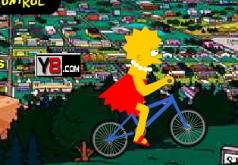 игры лиза симпсон велосипед