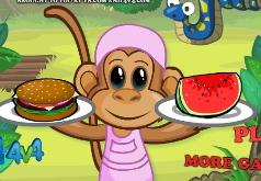 игры обед для обезьян