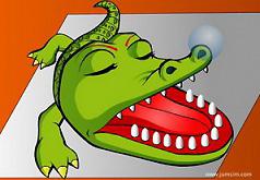 Игра Потрогай зубы крокодила
