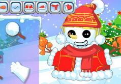 игры наряжаем снеговика