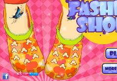 игры крок модная обувь
