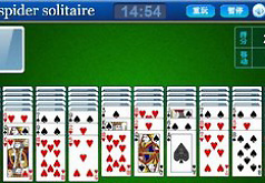 Игры Пасьянс Паук на зеленом фоне