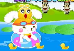 игры симпатичный кролик в пруду