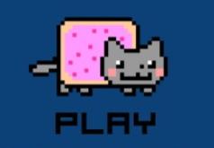 Игра Ньян кот Полет метеора