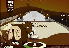 Игры Керлинг с коровой