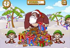 игры бананы обезьяны рождественские подарки