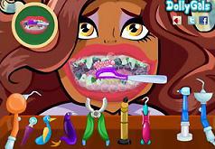 игры монстр хай лечить зубы клео