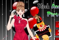 игры черное и красное вечерние платья
