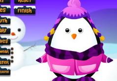 Игра Одень пингвина зимой
