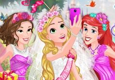 игра одевалки принцесс диснея на свадьбу