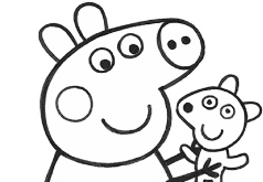 игры свинка пеппа раскраска набор