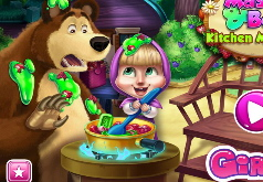 Игры Маша и Медведь Беда на Кухне