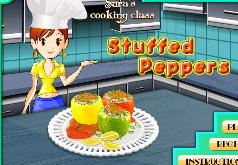 Игры Приготовь вкусные Фаршированные перцы с сарой