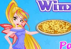 Игры Винкс Флора готовит пиццу часть 2