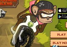 Игры Зимний мотокросс обезьяны