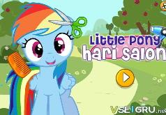 игры прически пони радуги