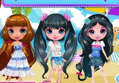 игры одевать трёх подружек