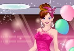 игры необычные розовые платья