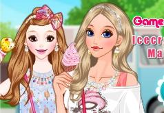 игры девочка с мороженым