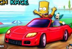 Игра Симпсоны Пляжные гонки