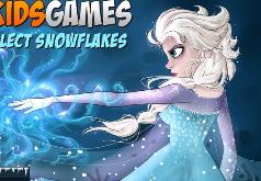 Игра Холодное сердце Эльза собирает снежинки