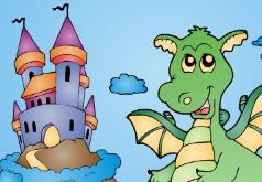 игры окраска замка дракона