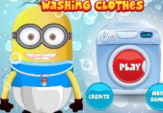 Игры Малыш Миньон стирает одежду