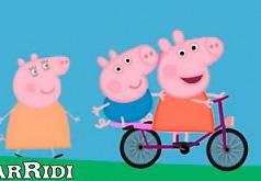 Пеппа на велосипеде|игры мотоциклы|свинка пеппа