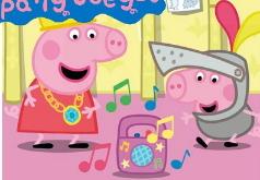 Игра Пазл Свинка Пеппа на дискотеке