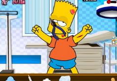 Игра Барт Симпсон у врача