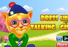 Игры Говорящий кот Рыжик одевалка
