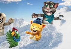 Игры Говорящий кот Снежная забава друзей